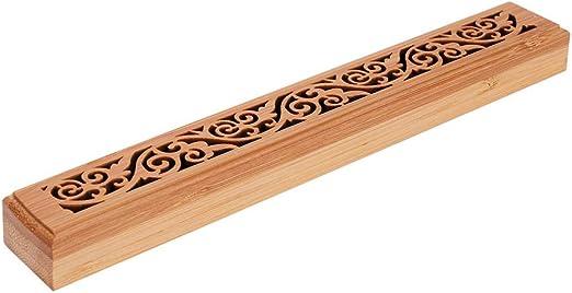 Wooden Incense Burner Burning Joss Stick Holder Incense Box Ash Catcher Censer