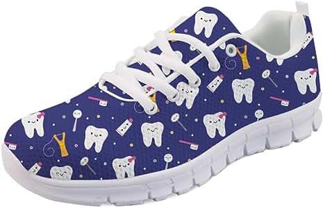 Hugs Idea - Zapatillas de Tenis de Malla elásticas para Mujer, Transpirables, ultraligeras, Color Morado, Talla 43 EU: Amazon.es: Zapatos y complementos