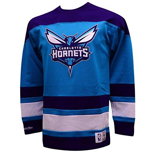 Amazon.com   Charlotte Hornets Mitchell   Ness NBA Mesh Long Sleeve Jersey  (XL)   Sports   Outdoors 3808cc6b8