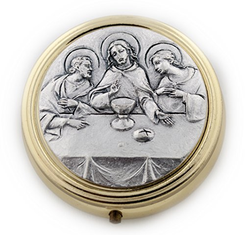 Catholic Holy Communion Pyx (Last - First Wheat Communion Cross