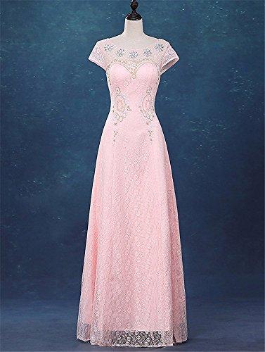 Eleganti Pizzo Da Maxi Delle Donne Colore Rosa Abiti Festa Prom Sera Drasawee Da Di Nuziali Abiti qvxwwt4I8