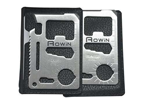 Aowin 2 Pack Pocket Tool Knife Card Stainless Steel Knife 11