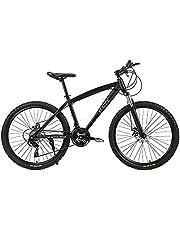"MACCE Unisex Adult Disc Brake 21 Speed Mountain Bike, Spoked Wheel 26"", Black, Size L"