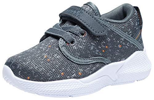 COODO Toddler Kid's Sneakers Boys Girls Cute Casual Running Shoes (5 Toddler,Slate Grey)
