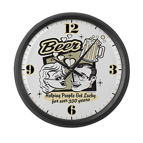 Large Wall Clock Beer: Helping People Get Lucky - Beer wall clock