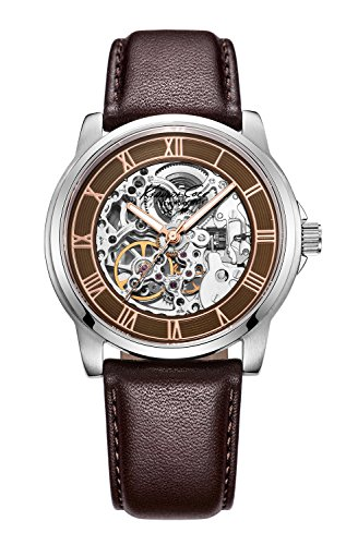 Brown Leather Automatic Watch - Kenneth Cole New York Men's KC1745 Stainless Steel and Brown Leather Automatic Watch