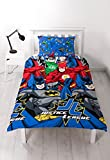Justice League 'inception' Single Duvet Set - Repeat Print Design