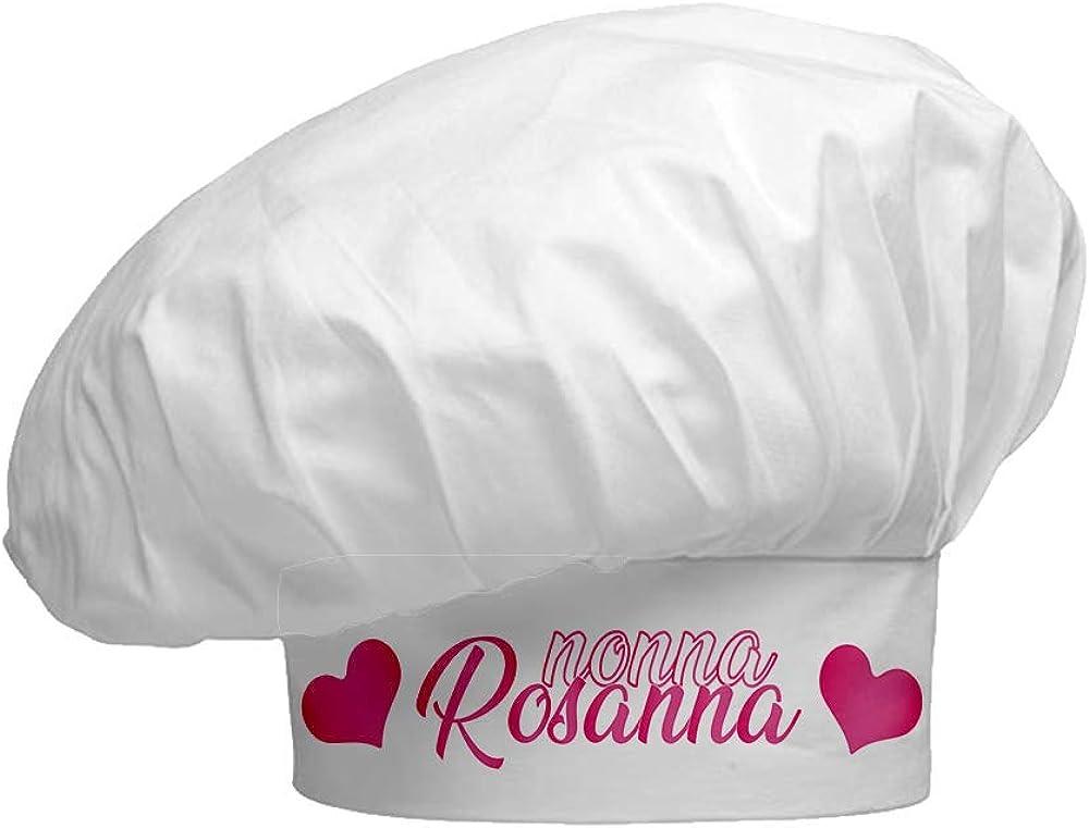 gadgeteventi Cappello Chef Personalizzato Mi Chiamano Nonno//a Idea Regalo per i Nonni