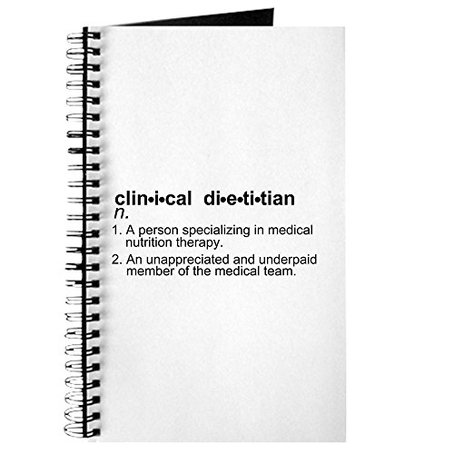 CafePress Clinical Dietitian Journal Spiral Bound Journal Notebook, Personal Diary, Blank ()