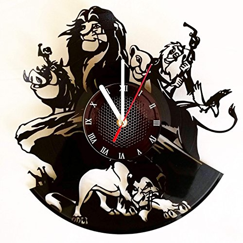 Cheap Lion King Vinyl Record Wall Clock . Get unique home room wall art decor. Cool gift ideas for boys, girls, kids, teens, men and women.
