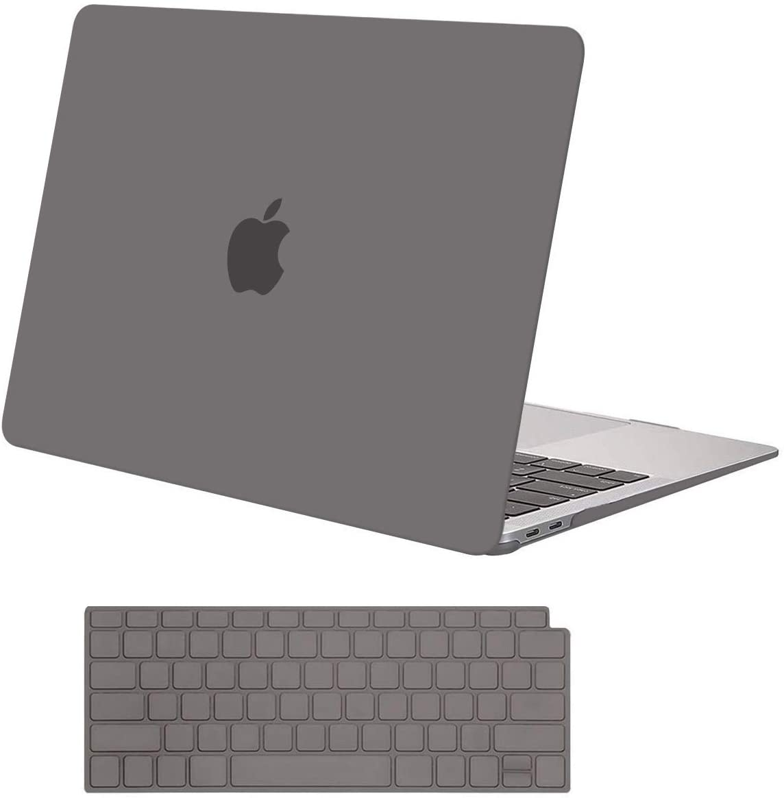MOSISO MacBook Air 13 inch Case 2020 2019 2018 Release A2179 A1932 with Retina Display, Plastic Hard Shell Case & Keyboard Cover Only Compatible with MacBook Air 13 with Touch ID, Gray