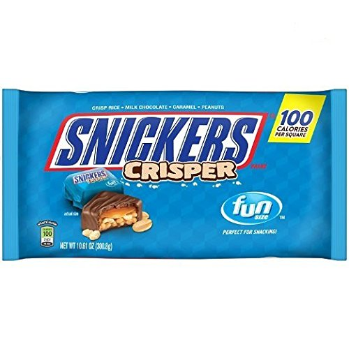 SNICKERS Crisper Fun Size Chocolate Candy Bars 10.61-Ounce Bag (Pack of 2)