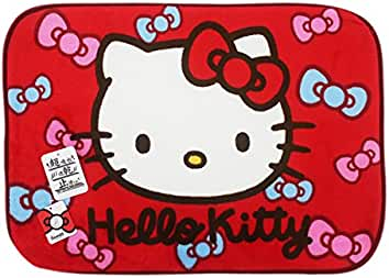 Hello Kitty Pink And Blue Bows Decorative Area Rug