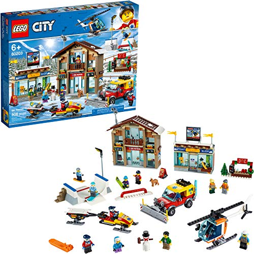 LEGO City Ski Resort 60203 Building Kit Snow Toy for Kids (806 Pieces) from LEGO