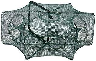 Automatic Fishing Net Shrimp Cage Nylon Foldable Crab Fish Trap Cast 12 Holes