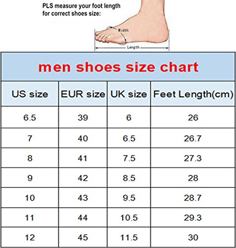 HUGS IDEA HUGSIDEA Mens Mechanical Gear Print Solid Mesh Running Shoes US6.5 DhvyCx1