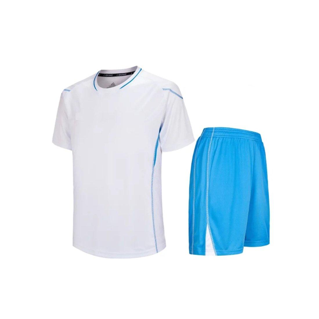 Inlefen Kurzarm Sport Shirt M/änner Schnell Trocknend Jungen Laufen T-Shirts Gym Kleidung Mens Fu/ßball Jerse Set