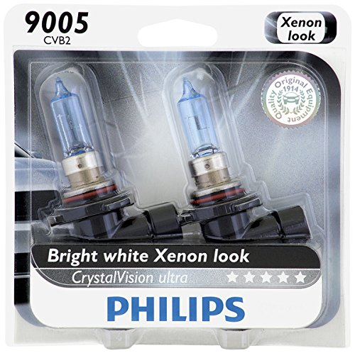 Philips 9005 CrystalVision Ultra Upgrade Headlight Bulb, 2 Pack,Packaging may vary (2013 Headlights Charger For)