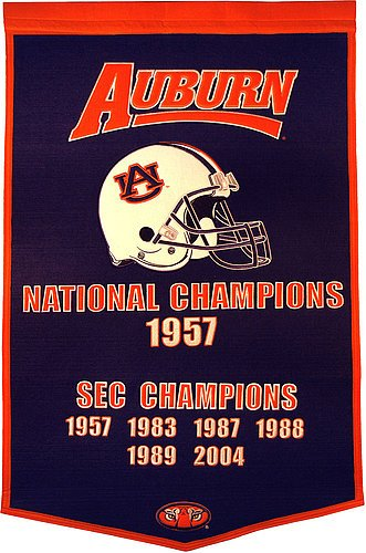 Auburn Tigers Dynasty Banner - NCAA Licensed - Auburn Tigers Collectibles