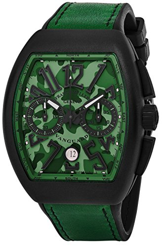 franck-muller-vanguard-mens-automatic-date-chronograph-green-camouflage-face-green-rubber-strap-watc
