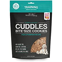 Honest Kitchen The Cuddles Natural Hand-Baked Grain-Free Fish and Pumpkin Dog Treat Cookies, 12 oz