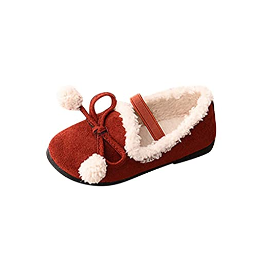 Botas Mocasines Niñas, LANSKIRT Bebé Infant Toddler Niña Invierno Caliente Bowknot Cordon Elástico Botines Zapatos de Princesa Botas Cortas: Amazon.es: ...