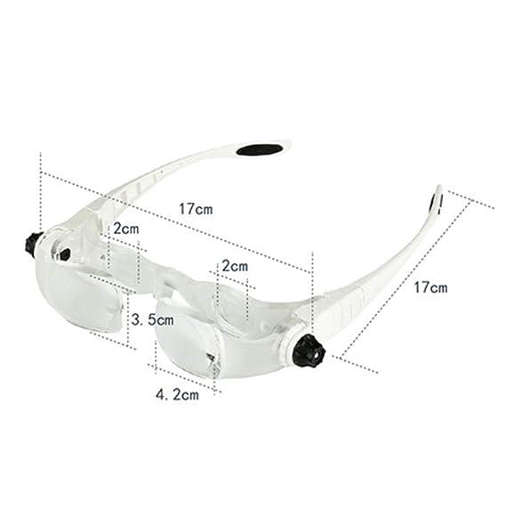 Lupa Multifunción Para Gafas Lupas Graduables 4X Multifuncionales Para Lectura, Inspección, Costura, Mantenimiento, Hobbies Y Manualidades: Amazon.es: ...