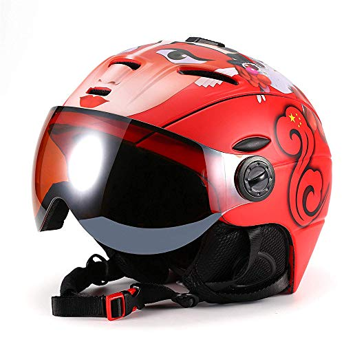 (Youth Ski Helmet for Men Women & Youth Windproof Lightweight Snowboards Racing Winter Sports Helmet The Venting System,XL)