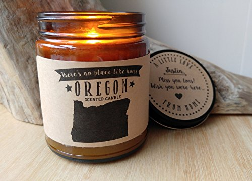 Oregon Scented Candle Missing Home Homesick Gift Moving Gift New Home Gift No Place Like Home State Candle Thinking of You Valentines Day Gift
