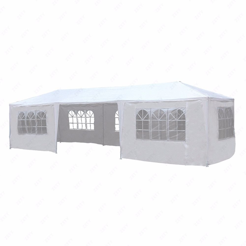 10'x30' White Outdoor Gazebo Canopy Party Wedding Tent 7 Sidewalls Removable Walls
