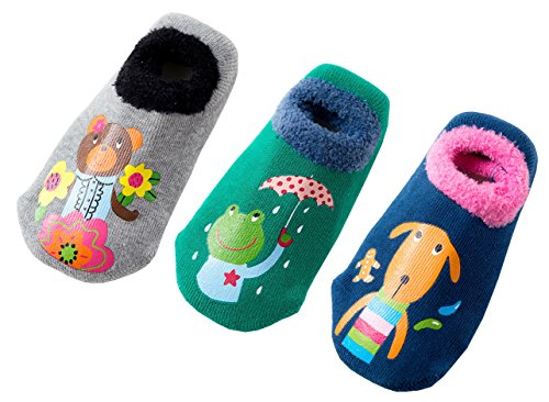 Toddler Kids Cute Thick Warm Non-Slip Cozy Socks Winter (Pack of 3) (Boys, 3-5 Years)