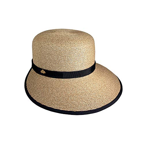 Sun Hat for Women - Cappelli Straworld - Natural Toyo Straw Facesaver