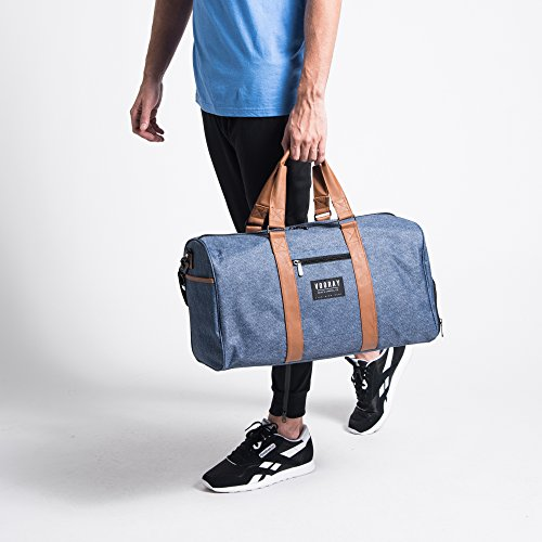 43l Trepic Duffel Drawstring Bag Laundry Weekender Vooray includes Bleu Bruyère Bag fPTnTZ