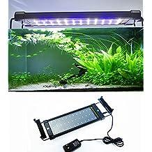 Amzdeal 6W 30CM 30 White+8 Blue Aquarium Fish Tank LED Light,Extendable for Aquarium Fish Tank (30CM- 50CM)