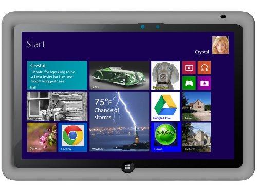 Bobj Rugged Case for ASUS VivoTab Smart 10 (ME400C) Tablet - BobjGear Custom Fit - Patented Venting - Sound Amplification - BobjBounces Kid Friendly (Groovy Grey)