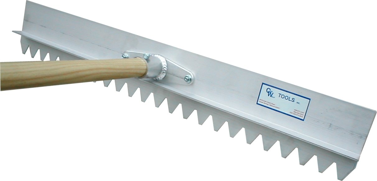 Czar Weld CWT-34SALWH-24 24-Inch Serrated Aspahlt Lute with Wood Handle by Czar Weld
