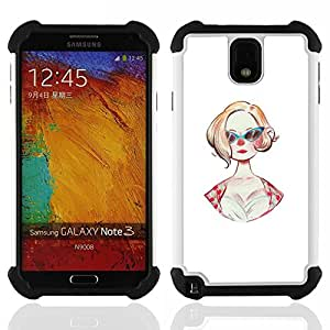 GIFT CHOICE / Defensor Cubierta de protección completa Flexible TPU Silicona + Duro PC Estuche protector Cáscara Funda Caso / Combo Case for Samsung Galaxy Note 3 III N9000 N9002 N9005 // Sunglasses 50S Fashion Hairstyle Pin Up Dress //