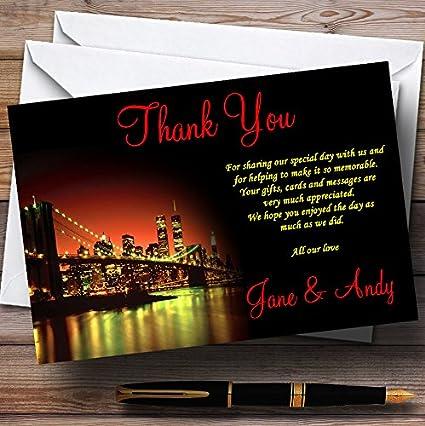 Nueva York personalizado boda tarjetas de agradecimiento 30 ...