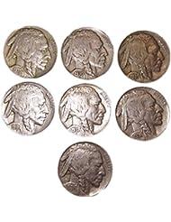 7 - U.S. Indian Head (Buffalo) Nickels Nickel - Grab Bag