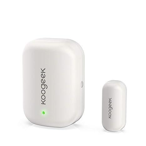 Koogeek Sensor de Puerta/Ventana, Alarma Inalámbrico de Seguridad, HomeKit, Acceso Remoto, Disparador Automático, no Concentrador, Batería ...