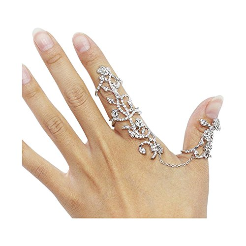 Hanloud Multiple Rings Set Stack Knuckle Adjustable Ring For (Links Fashion Ring)