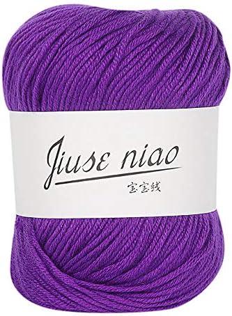 Double Knitting Yarn,Hand-Knitted Milk Cotton Yarn,Colourful Gradient Yarn,Warm Soft Natural Knit Milk Cotton Yarn Knitwear,Adult and Childrens Universal Long-Staple Cotton Yarn 6Pcs)
