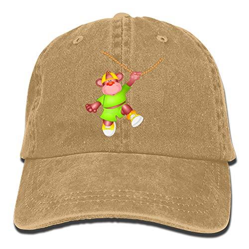 Monkey Lovely Vintage Adjustable Jean Cap Gym Caps for Adult for $<!--$5.98-->