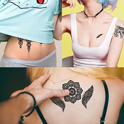 Tatuajes Dorados – Meersee 10 Hojas de Tatuajes Temporales ...