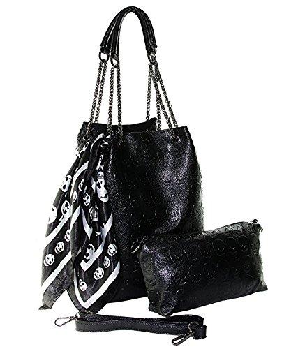 Womens Skull Shoulder Gothic Handbag product image
