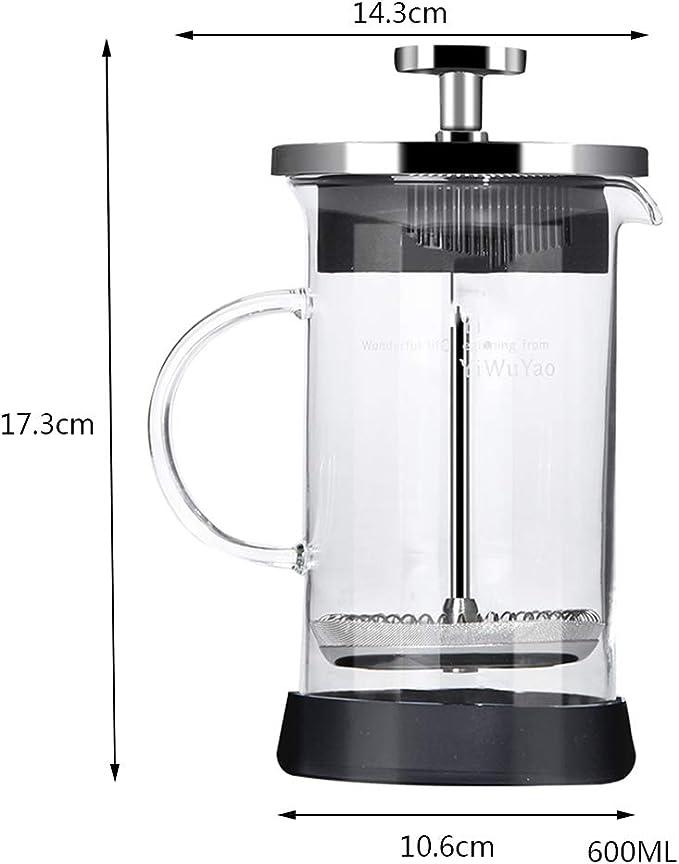 YQQ-Cafetera Émbolo/Máquina de café de Vidrio a Prueba de Golpes ...