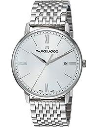 Men's 'Eliros' Swiss Quartz Stainless Steel Casual Watch, Color Silver-Toned (Model: EL1118-SS002-110-2)