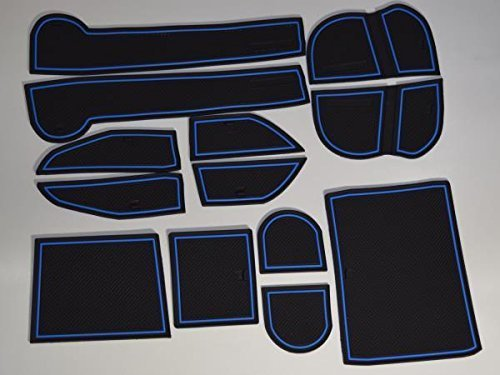 KINMEI Subaru Outback BS system specially designed blue interior door pocket mat drink holder slip non-slip storage space protection rubber mats SUBARU LEGACY OUTBACKbs-b by KINMEI