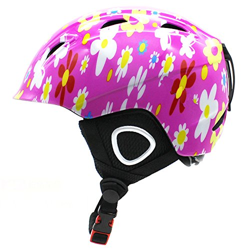 BeBeFun Toddler and Kids Snow Sports Helmet Age 3-7 and 8-15 Year with Mini Visor-Pink