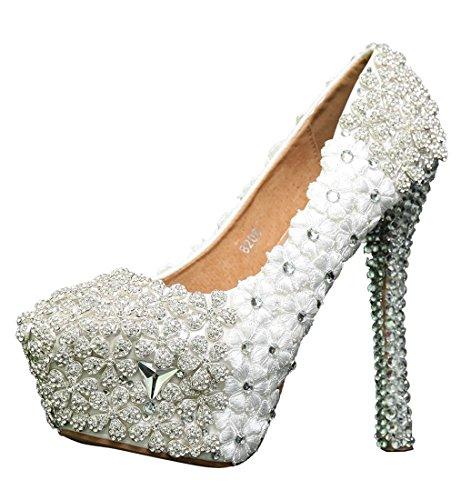 14cm Mujer Heel White Miyoopark Plataforma qRx5tt